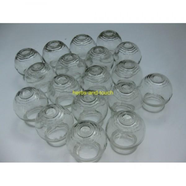 Glazen cuppingset nr 3 24 stuks